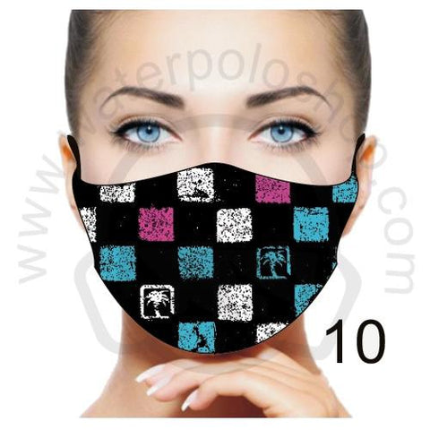 Face Mask - Reuseable / Washable Fabric With Filter Pocket (10) - Squares