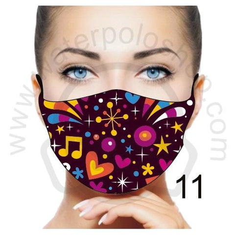 Face Mask - Reuseable / Washable Fabric With Filter Pocket (11) - Party