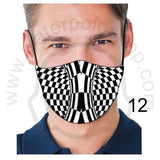 Face Mask - Reuseable / Washable Fabric With Filter Pocket (12) - Zebra