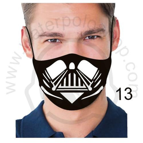 Face Mask - Reuseable / Washable Fabric With Filter Pocket (13) - Black White