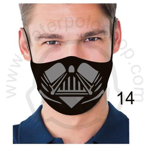 Face Mask - Reuseable / Washable Fabric With Filter Pocket (14) - Black Grey