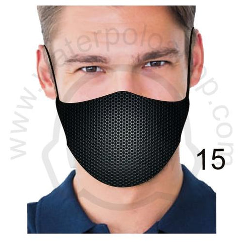 Face Mask - Reuseable / Washable Fabric With Filter Pocket (15) - Black Mesh