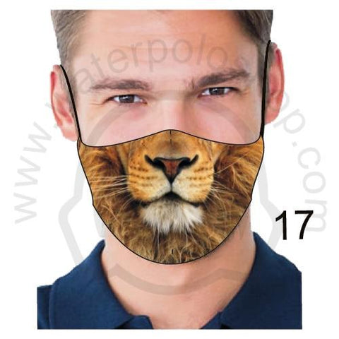 Face Mask - Reuseable / Washable Fabric With Filter Pocket (17) - Lion