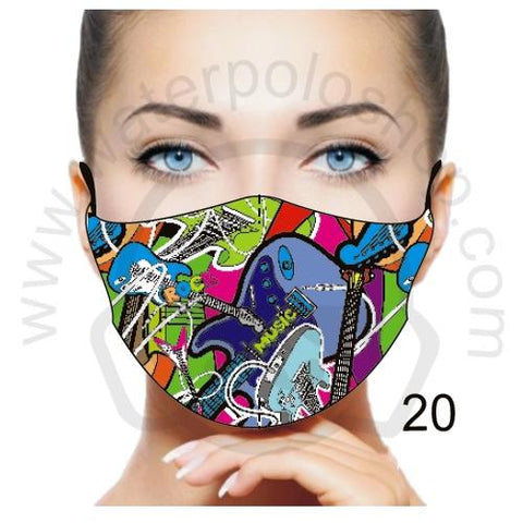 Face Mask - Reuseable / Washable Fabric With Filter Pocket (20) - Rock