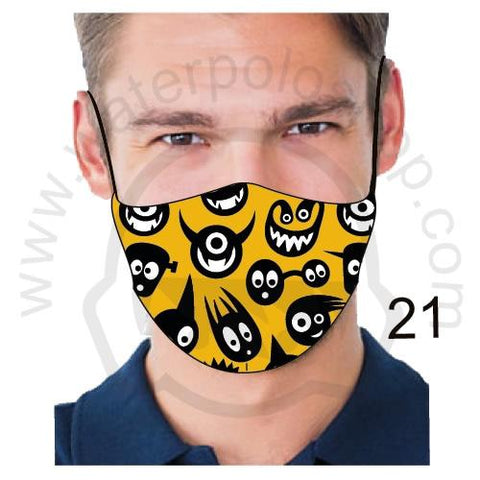 Face Mask - Reuseable / Washable Fabric With Filter Pocket (21) - Monsters