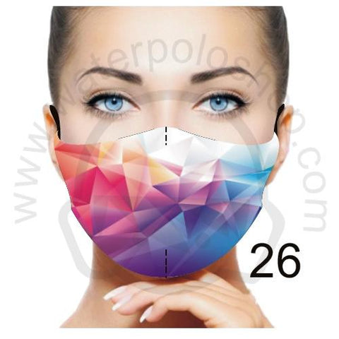 Face Mask - Reuseable / Washable Fabric With Filter Pocket (26) - Diamonds