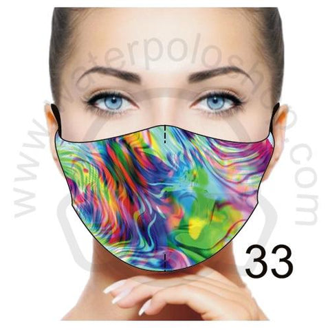 Face Mask - Reuseable / Washable Fabric With Filter Pocket (33) - Illusion