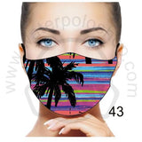Face Mask - Reuseable / Washable Fabric With Filter Pocket (43) - Palms