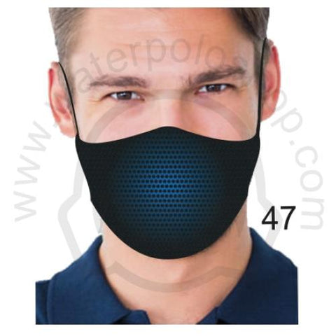Face Mask - Reuseable / Washable Fabric With Filter Pocket (47) - Blue Shadow