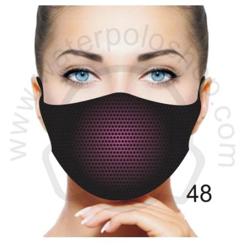 Face Mask - Reuseable / Washable Fabric With Filter Pocket (48) - Pink Shadow