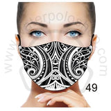 Face Mask - Reuseable / Washable Fabric With Filter Pocket (49) - Maori