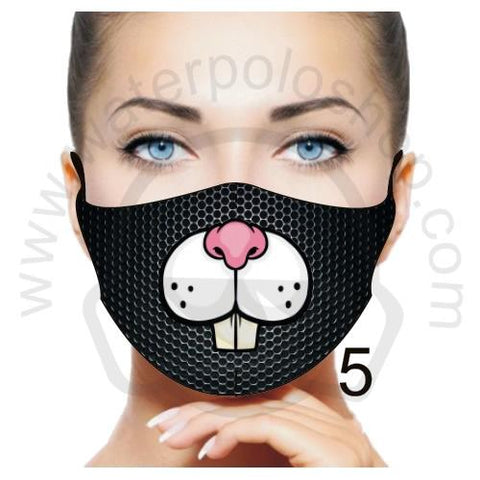 Face Mask - Reuseable / Washable Fabric With Filter Pocket (5) - Rabbit