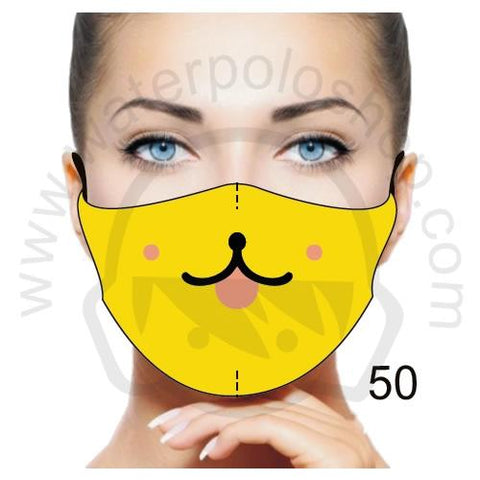 Face Mask - Reuseable / Washable Fabric With Filter Pocket (50) - Fun Cute