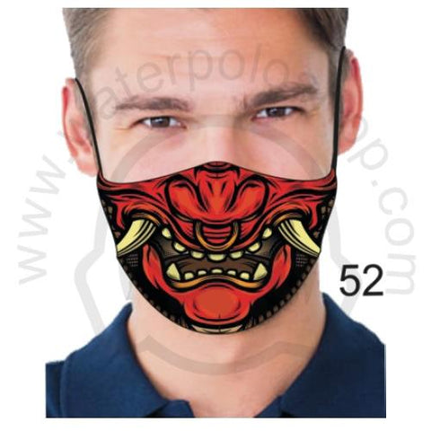 Face Mask - Reuseable / Washable Fabric With Filter Pocket (52) - Red Samurai