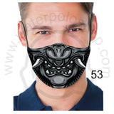 Face Mask - Reuseable / Washable Fabric With Filter Pocket (53) - Black Samurai