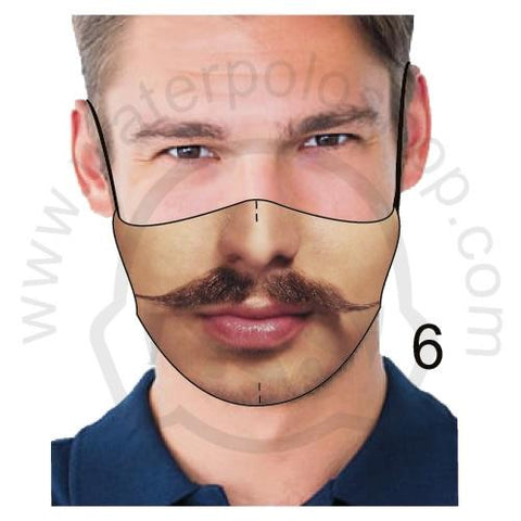 Face Mask - Reuseable / Washable Fabric With Filter Pocket (6) - Mustache