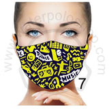 Face Mask - Reuseable / Washable Fabric With Filter Pocket (7) - Dance