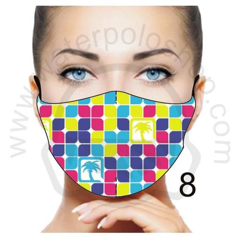 Face Mask - Reuseable / Washable Fabric With Filter Pocket (8) - Palm