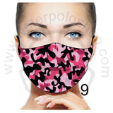 Face Mask - Reuseable / Washable Fabric With Filter Pocket (9) - Magenta