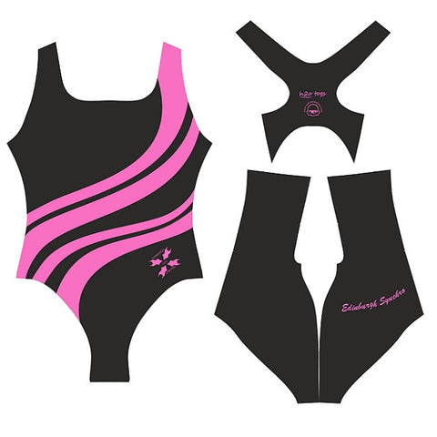 Waterpoloshop - H2OTOGS Customised - Edinburgh (Synchronised Swimming) Womens Xback Suits