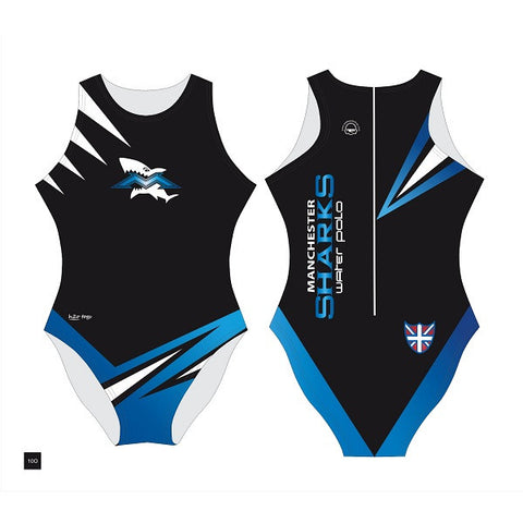 Waterpoloshop - H2OTOGS Customised - Manchester Sharks Womens Water Polo Suits