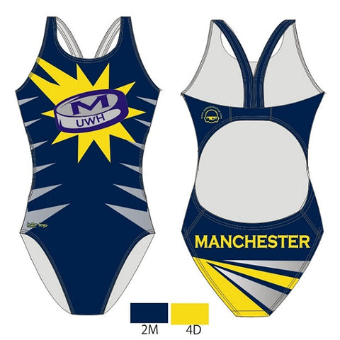 Waterpoloshop - H2OTOGS Customised - Manchester UWH Womens Bladeback Suits