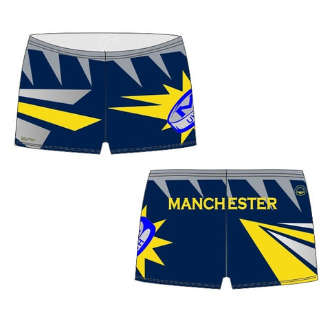Waterpoloshop - H2OTOGS Customised - Manchester UWH Mens BOXER Aquashorts (M24)