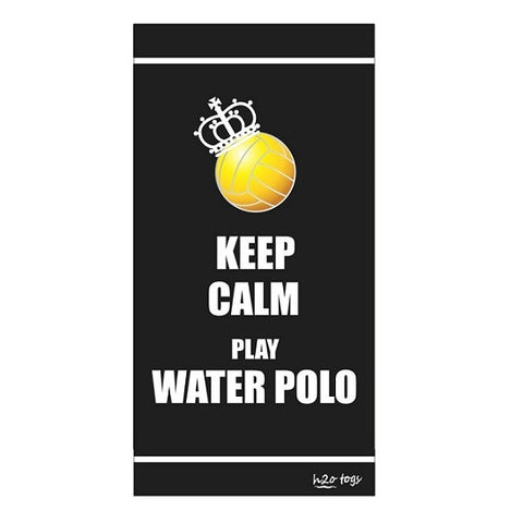 Waterpoloshop - H2OTOGS Keep Calm Play Water Polo Beach Towel