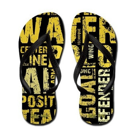 Waterpoloshop - BLF Small -  H2OTOGS Water Polo Word - Flip Flops