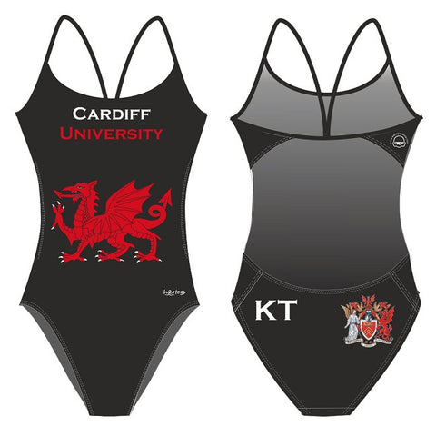 Waterpoloshop - H2OTOGS Customised - Cardiff Uni Womens Openback Swimsuit + INITIALS