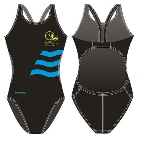 H2OTOGS Customised - Cardiff Triathletes Caerdydd Womens Bladeback Suits