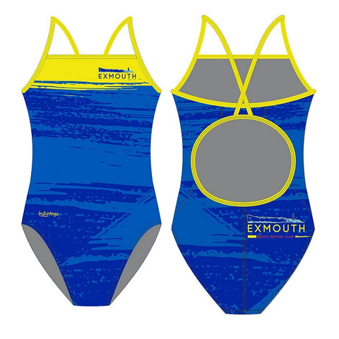 H2OTOGS Customised - Exmouth Beach Rescue Club Womens Skinback Swimsuit