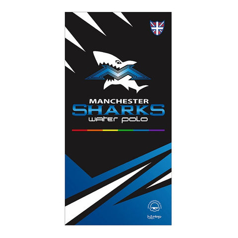 H2OTOGS Customised Manchester Sharks Beach Towel