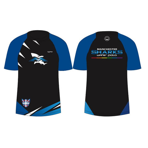 H2OTOGS Customised - Manchester Sharks Unisex MESH T-Shirt / Tee / TShirt