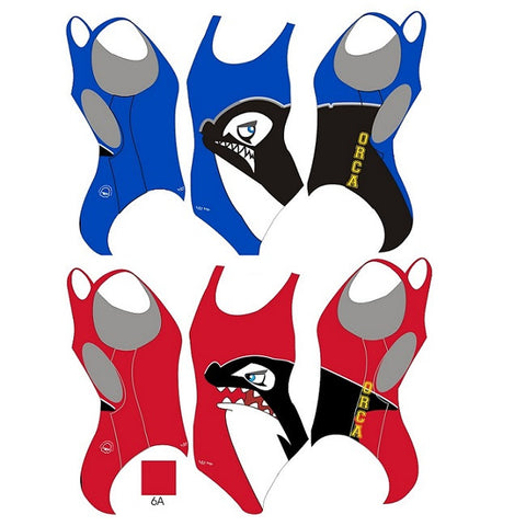 Waterpoloshop - H2OTOGS Customised - Orca Bilzen (ORCA) Womens Xback Suits