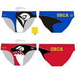 Waterpoloshop - H2OTOGS Customised - Orca Bilzen (ORCA) Mens Water Polo Suits - Blue and Red