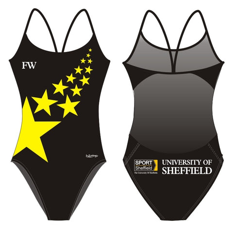 H2OTOGS Customised - Sheffield Uni Womens Openback Suits / Swimming Costumes