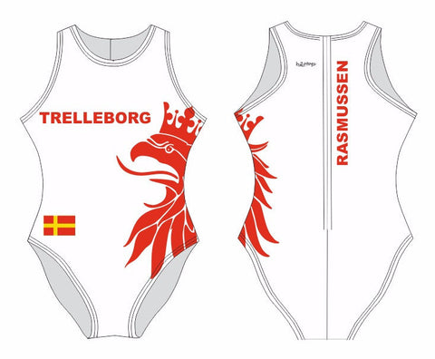 H2OTOGS Customised - Trelleborg UWR Womens Water Polo Suits + NAME