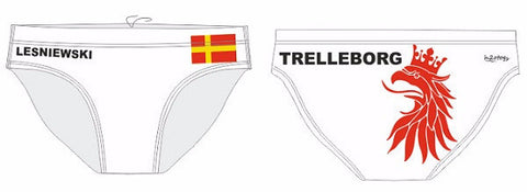 H2OTOGS Customised - Trelleborg UWR Mens Water Polo Suits + NAME