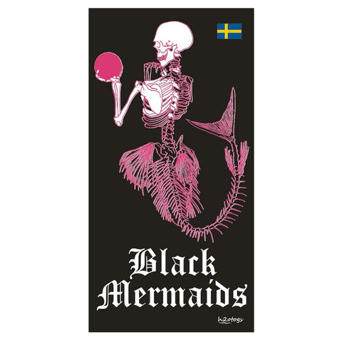 H2OTOGS Customised - Black Mermaids Beach Towel