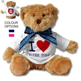 SHOALO Customised Teddy Bear - I Love Water Polo