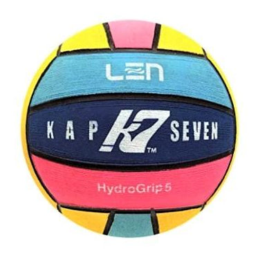 KAP 7 - LEN Mens Water Polo Ball - Size 5 - Multicoloured
