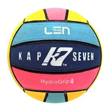 KAP 7 - LEN Womens Water Polo Ball - Size 4 - Multicoloured