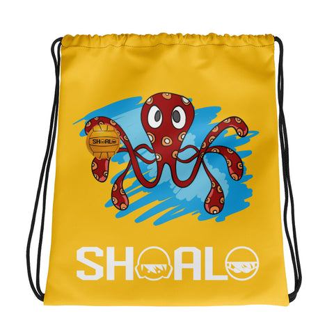 SHOALO - Octopus - Drawstring bag - Yellow
