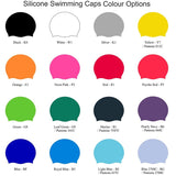 SHOALO Custom Design - Silicone Swimming Caps / Hats - Base colours 1