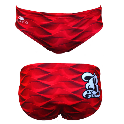 TURBO Red Waves - 730801-0008 - Mens Suit - Water Polo