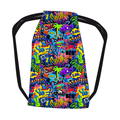 TURBO Wow Grafitti - 9811051 - Mesh Bag / Sports Bag