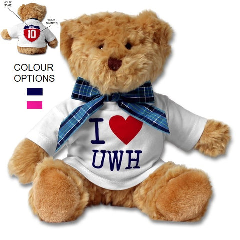 SHOALO Teddy Bear PERSONALISED - I Love UWH