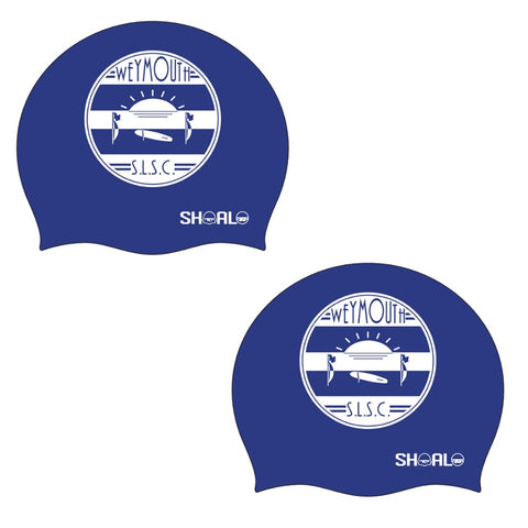 SHOALO Customised - Weymouth SLSC Silicone Swimming Caps / Hats