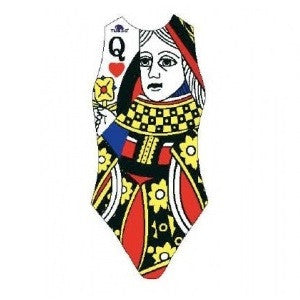 Waterpoloshop - TURBO Queen of Hearts - 89147  - Womens/Girls Suit - Water Polo